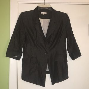 "just ginger Jackets & Coats - Black ""denim"" blazer"